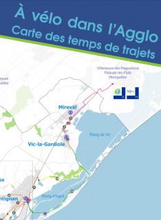 Carte itinéraires vélo Sète Agglopôle