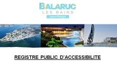 Registre Accessibilité Balaruc Tourisme
