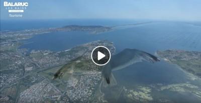 Caméra embarquée Goelan à Balaruc les Bains, presqu'île sur l'étang de Thau
