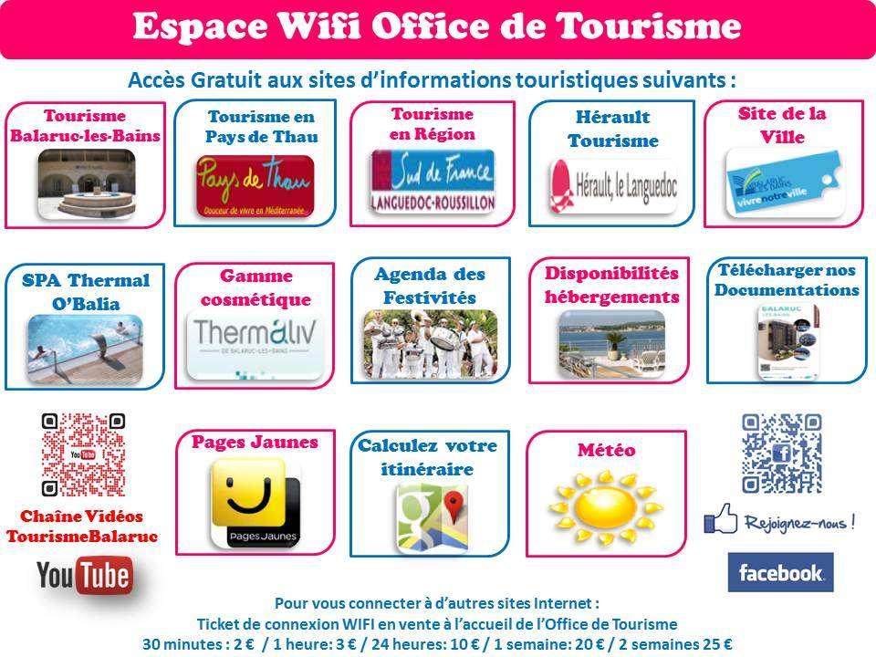 Espace wifi de l 39 office de tourisme - Office de tourisme de lamalou les bains ...