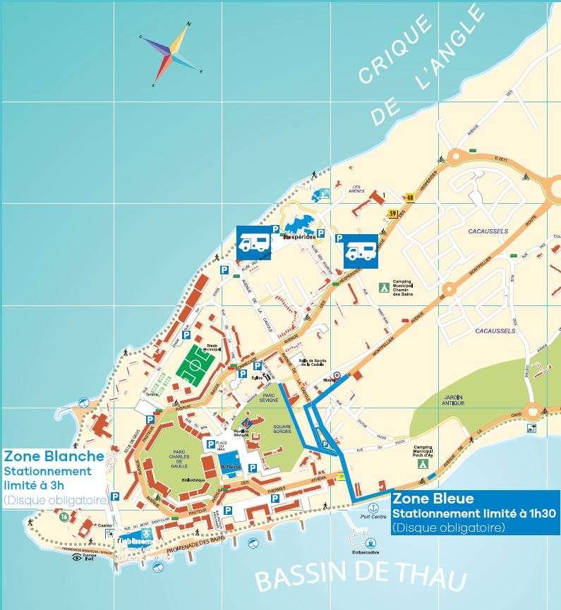 Zones de stationnement r glement es - Balaruc les bains office du tourisme ...