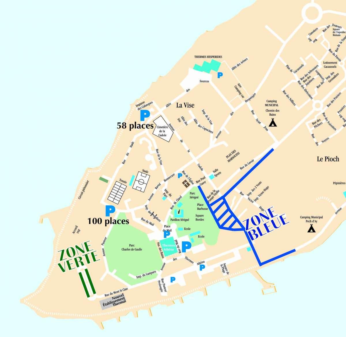 Zone de stationnement r glement es - Balaruc les bains office du tourisme ...