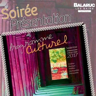 SOIREE PRESENTATION DE L'AGENDA CULTUREL BALARUC LES BAINS