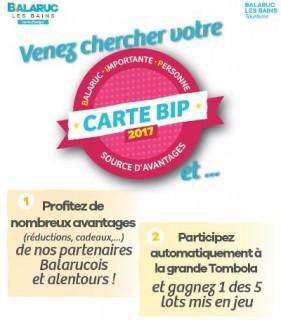 Carte BIP 2017 Balaruc les Bains