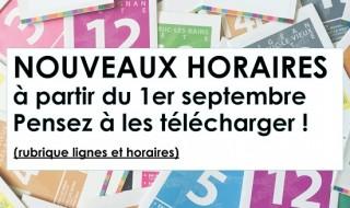 NOUVEAUX HORAIRE DE BUS  1ER SEPTEMBRE 2016