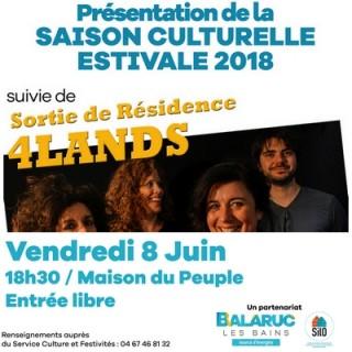 PRESENTATION SAISON CULTURELLE ESTIVALE 2018 BALARUC LES BAINS 1
