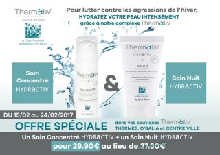 OFFRE SPECIALE GAMME COSMETIQUE THERMALIV BALARUC LES BAINS