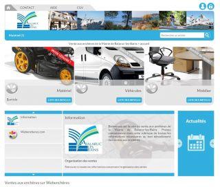 Web Ench�res Mairie de Balaruc-les-Bains