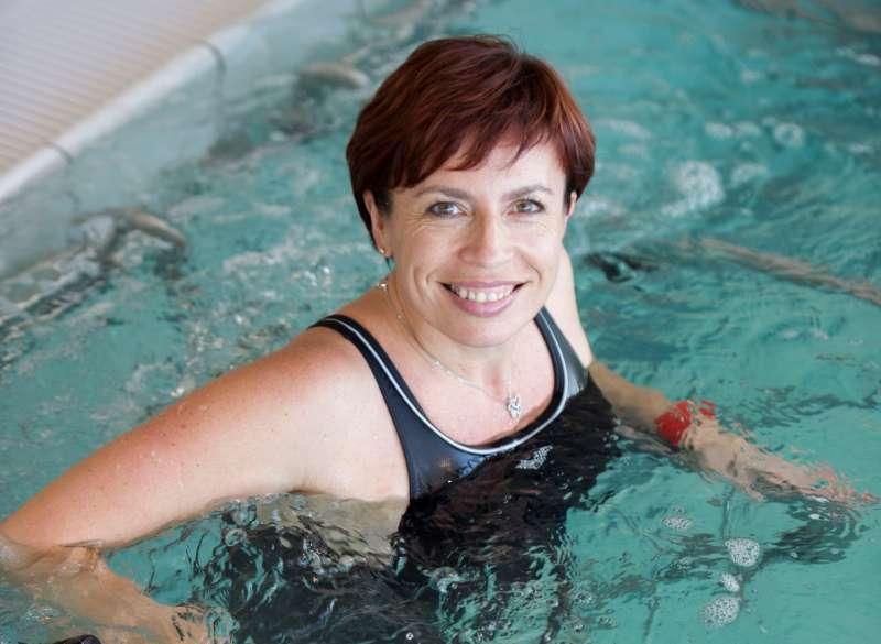 Douche de forte pression sous immersion en piscine Phlébologie Thermes de Balaruc les Bains