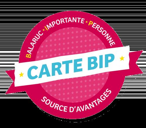 Logo Carte BIP Source d'avantages Balaruc les bains