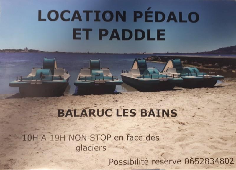 LOCATION DE PEDALO BALARUC LES BAINS