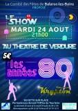 Affiche  24 aout Comité des Fêtes de Balaruc-les-Bains