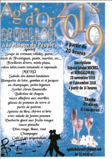 REVEILLON AGE D'OR