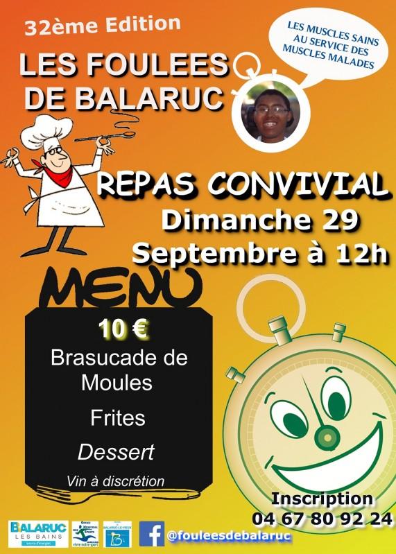 Affiche Repas des Foulees de Balaruc 2019