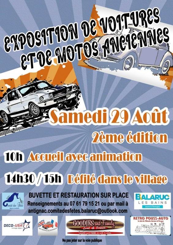 Exposition de voitures et de motos anciennes