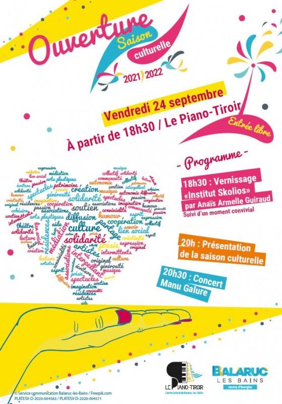 OUVERTURE DE SAISON CULTURELLE CENTRE CULTUREL PIANO TIROIR BALARUC LES BAINS 1