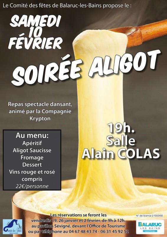 SOIREE ALIGOT COMITE DES FETES DE BALARUC LES BAINS